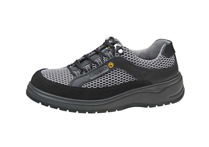 Black ESD Shoe with Mesh Detail