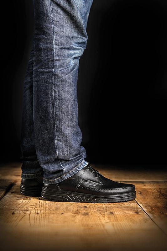 AirCushion ESD Black Shoe Abeba 32610 - Bondline
