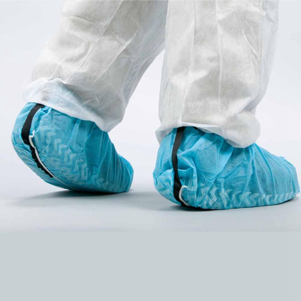 Anti Skid Polypropylene ESD Shoe Cover Blue Bondline