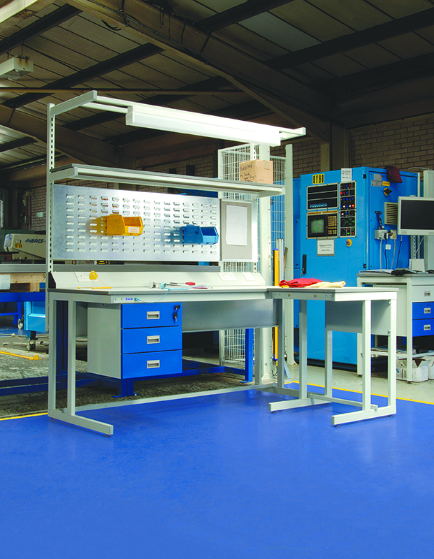 Cantilever ESD Workbench With Accessories