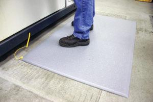 Vinyl Bench Matting on Floor | Bondline Electronics Ltd