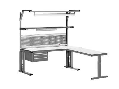 Bondline ESD comfort bench available in 3 sizes