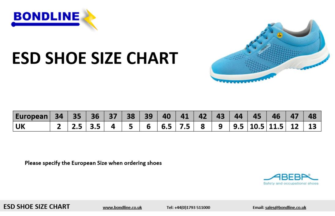 European size chart shoes