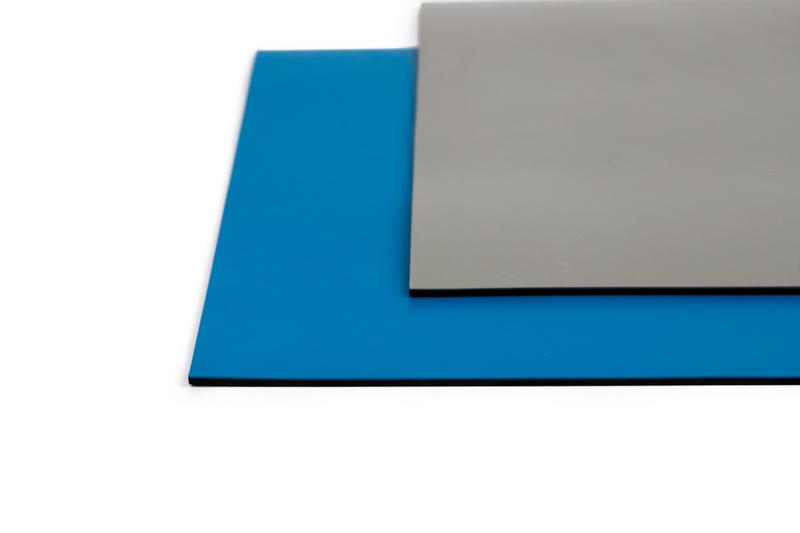 Grey and Blue ESD Bench Matting   Bondline Electronics Ltd