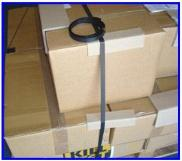 Bondline black conductive strapping for packing areas
