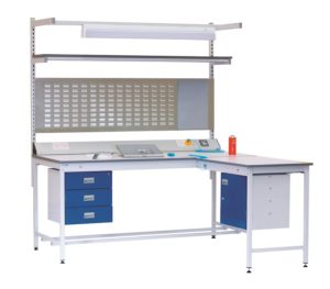 Square Tube ESD Workbench With Extention | Bondline Electronics Ltd