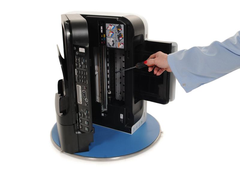 Open Printer on ESD Turntable