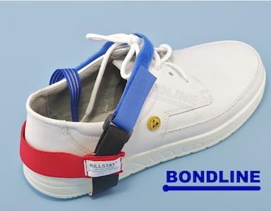 Bondline anti-static velcro heel grounder