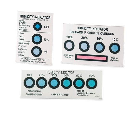 Standard Cobalt Humidity Indicator Cards