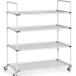 Bondline ESD Transportation Cart - Four shelves