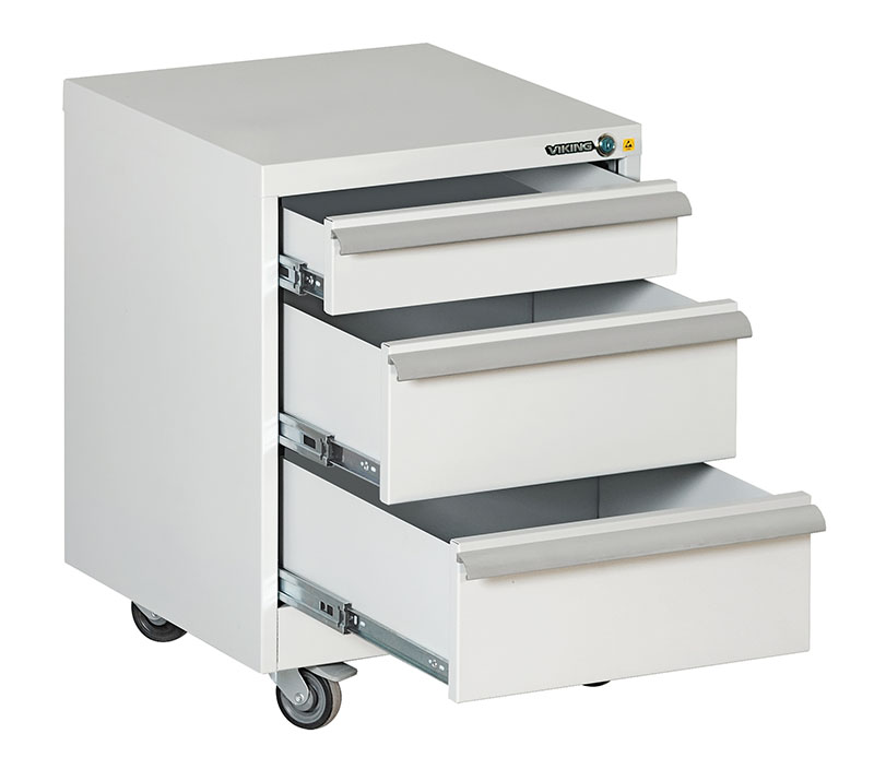 Bondline ESD Moveable Transportation Cart 3 shelves