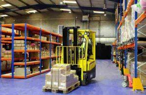 Forklift Process In Bondline Warehouse