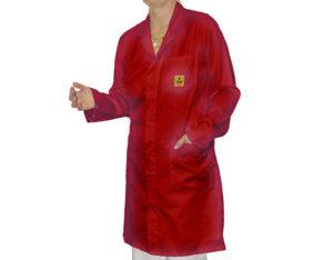 Red ESD Lab Coat | Bondline