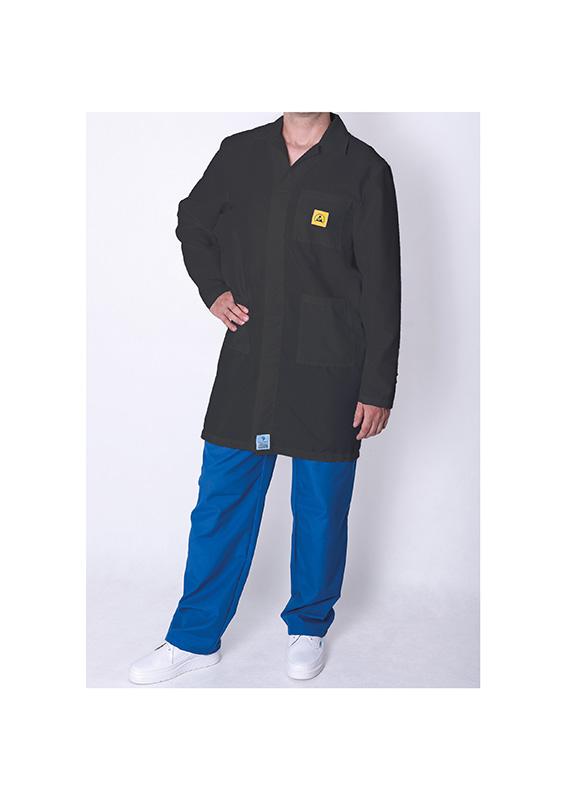 Premium ESD Black Lab Coats bondline