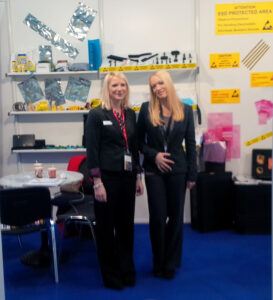 Victoria and Sam Directors of Bondline at Productronica, 2013